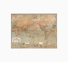 Vintage Map of The World (1870) Unisex T-Shirt