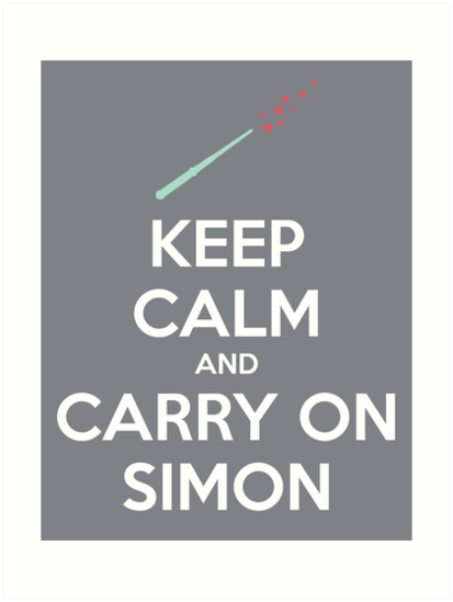 Keep Calm and Carry On Simon—White Text by 4everYA