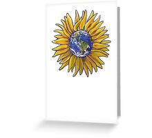 Sunflower Earth Greeting Card
