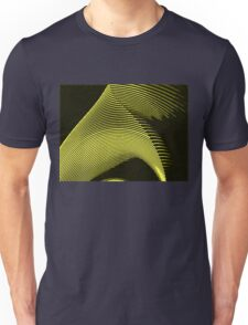 Yellow waves, line art, curves, abstract pattern 2 Unisex T-Shirt