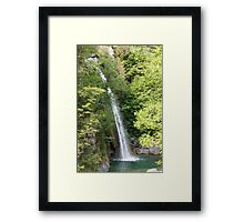 stream and waterfall  in the forest Framed Print