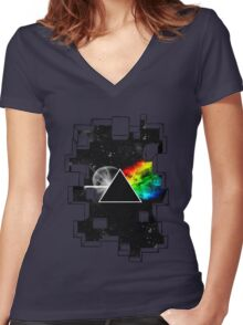Pink Floyd Women's Fitted V-Neck T-Shirt