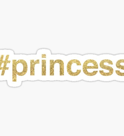 princess glitter | Golden Sticker