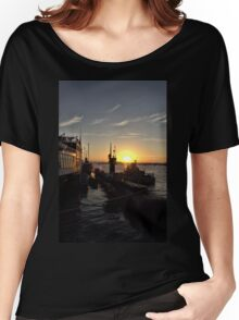 Submarine at Sunset Women's Relaxed Fit T-Shirt