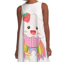 kawaii cupcake A-Line Dress