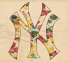 Yankees Vintage Art by Florian Rodarte