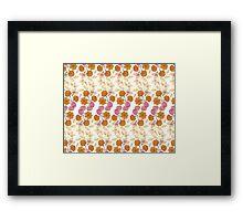 Rainbow Petal Pattern Framed Print