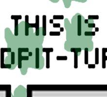 This is sandpit-turtle! Sticker