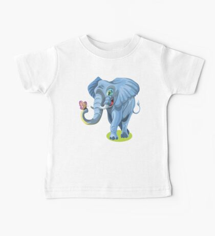 Butterfly & Elephant  Baby Tee