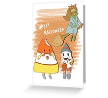 Happy Halloween, Candycorn Greeting Card