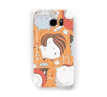 Orange monsters Samsung Galaxy Case/Skin