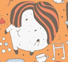 Orange monsters Sticker