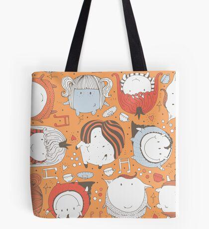 Orange monsters Tote Bag