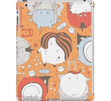 Orange monsters iPad Case/Skin