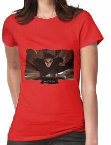 Matrix Attitude in Flight - Keanu Reeves Womens Fitted T-Shirt