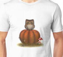 Kürbis Eule Unisex T-Shirt