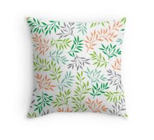 Herbal background Throw Pillow
