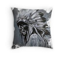 Native American Warrior - Pura Vida Throw Pillow