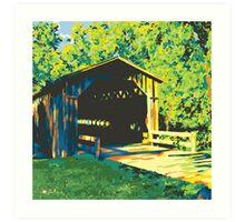 Historic Covered Bridge - Cedarburg WI (bold) SQUARE Art Print
