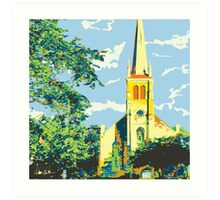 Historic St Francis Borgia Church - Cedarburg WI (bold) SQUARE Art Print