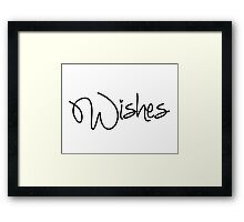 Wishes! Framed Print