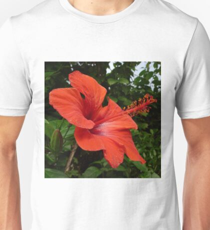 Red Hisbiscus Unisex T-Shirt