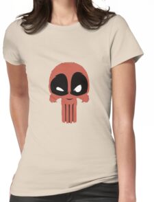 Creepy Red Figure Womens Fitted T-Shirt