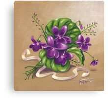 Violets - acrylic painting Canvas Print