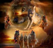 Dream Catcher - WolfLand by Carol  Cavalaris