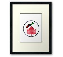 I Love Nova Scotia Canada Framed Print
