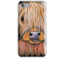 HIGHLAND COW ' PEPSI ' By Shirley MacArthur iPhone Case/Skin