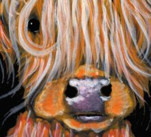 HIGHLAND COW ' PEPSI ' By Shirley MacArthur Sticker