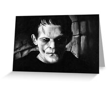THE MONSTER of FRANKENSTEIN Greeting Card