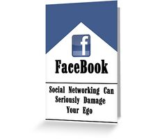Facebook & The Social Network Ego Greeting Card