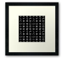 Shapes, Arrows and other.Hand drawn. Framed Print