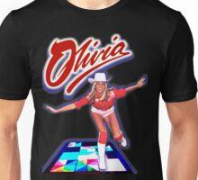 Olivia Newton-John - Roller Disco -70's  Unisex T-Shirt