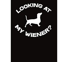 Are you looking at my wiener? Photographic Print