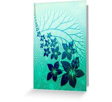 Abstract blue flower design  Greeting Card