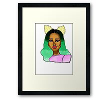 The girl with the cat ears. Framed Print