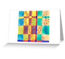 Underwater Impression in Rectangles  Greeting Card