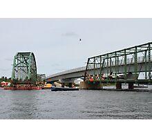 Removal of the Indian Sluice Bridge Photographic Print