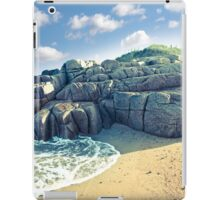 rock formation on a coastal beach in county Donegal iPad Case/Skin