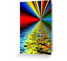 Abstract color reflections on water design  Greeting Card