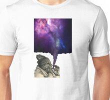 Old man smoking the universe Unisex T-Shirt