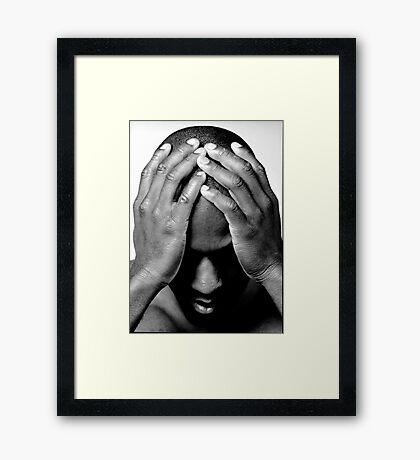 Hands/Head Framed Print