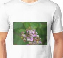 Hoverfly on Bramble Flowers Unisex T-Shirt