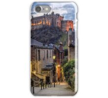Edinburgh Castle from The Vennel Steps iPhone Case/Skin