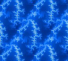 Seamless Fractal Blue by Henrik Lehnerer
