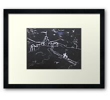 KNIGHT IN SHINING ARMOUR ON A FULL MOON NIGHT(C2016) Framed Print