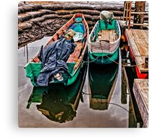 Docked Fishing Boats Canvas Print